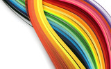 Fototapeta Tęcza - Abstract color rainbow strip paper background.