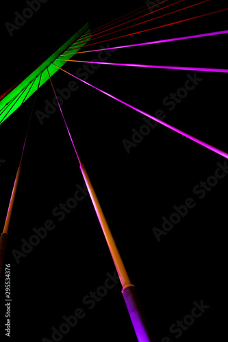 Neon Lights Line Art Isolated Lines Wallpaper Mural