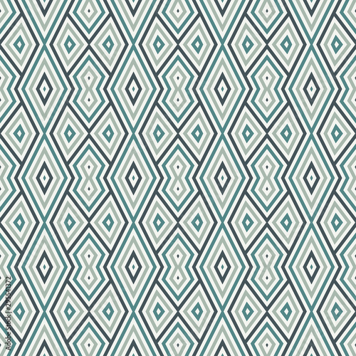 Foto auf AluDibond Boho-Stil Seamless pattern with geometric ornament. Striped background. Ethnic and tribal motifs. Repeated rhombuses and lines