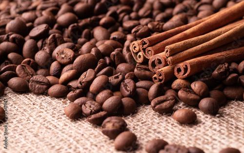 Cinnamon Sticks and Roasted Coffee Grains