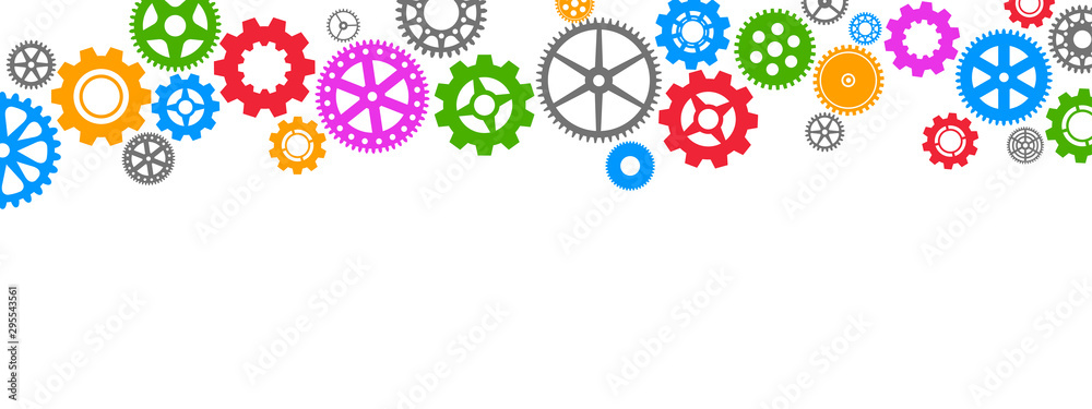 Gears background – stock vector