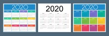 Calendar 2020. Colorful Set. R...