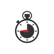 Leinwanddruck Bild - Stop watch or chronometer icon logo