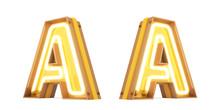 Neon Light Digital Alphabet 3d...