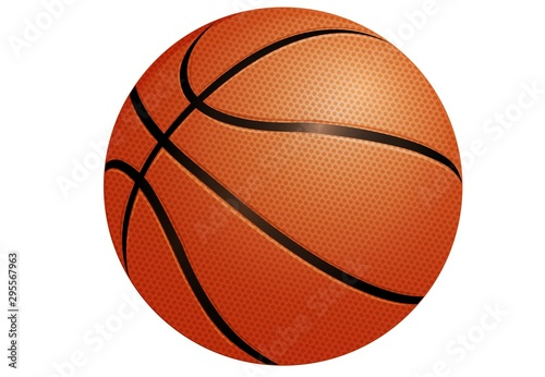 Cuadros en Lienzo basketball isolated on white background
