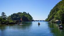 佐渡のたらい舟、矢島経島