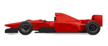 Red Formula One Race Car Isola...