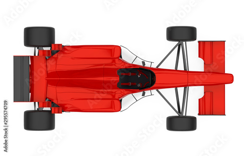 Recess Fitting F1 Red Formula One Race Car Isolated