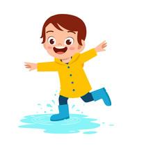 Happy Cute Kid Boy Play Wear R...