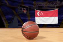 Singapore Flag And Basketball ...