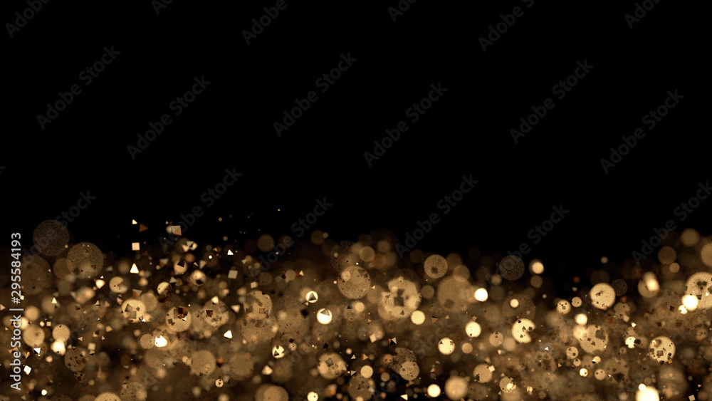 Fototapety, obrazy: Luxury glitter background. 3d illustration, 3d rendering.