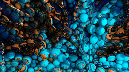 Obraz Bright background with a volumetric pattern and print. 3d illustration, 3d rendering. - fototapety do salonu