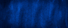 Saturated Dark Blue Watercolor With Unique Uneven Paint Stains. Abstract Indigo Background For Design, Layouts And Templates.