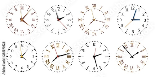 Modern clock faces Wallpaper Mural