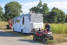 Motorhome And Quad Bike
