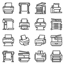 Printer Icon. Outline Printer ...