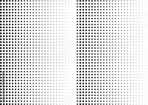 Tuinposter Pop Art Abstract halftone dotted background. Monochrome grunge pattern with dot and circles. Vector modern pop art texture for posters, sites, business cards, cover, postcards, labels, stickers layout.