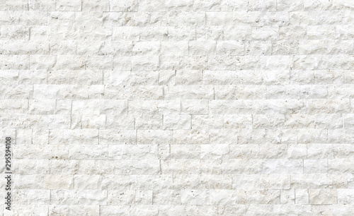Photo Beige stone tilled wall texture background