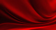canvas print picture - red Silk background
