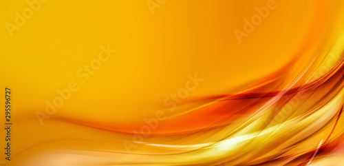 Fotobehang Abstract wave abstract orange background