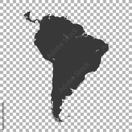 Cuadros en Lienzo  map of South America