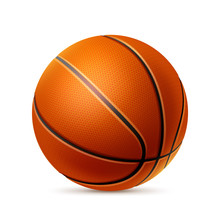 Vector Realistic Basketball Ball For Betting Promo