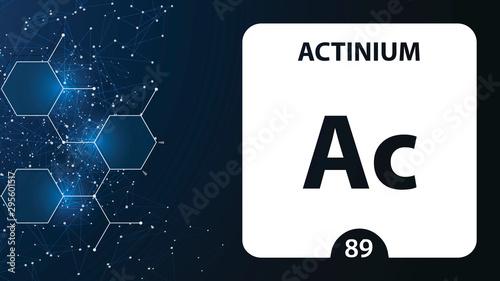 Photo Actinium 89 element
