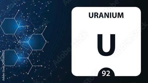 Obraz na plátně  Uranium 92 element