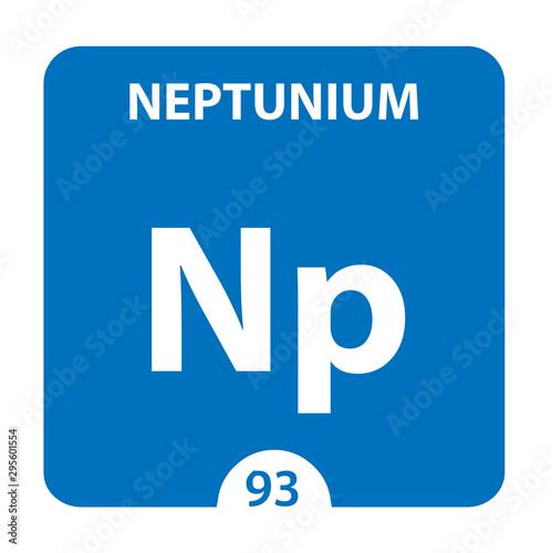 Obraz na plátně  Neptunium Chemical 93 element of periodic table