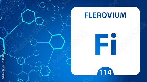 Flerovium Fl, chemical element sign Wallpaper Mural