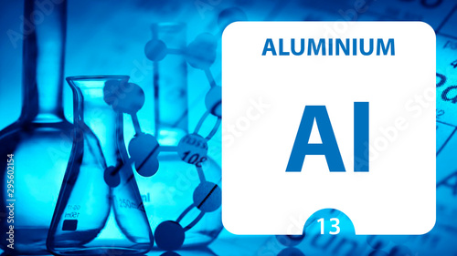 Aluminium Al, chemical element sign Canvas Print