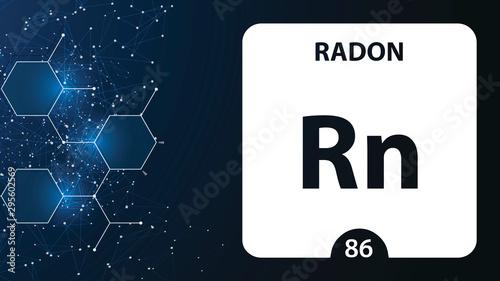 Radon 86 element Tapéta, Fotótapéta