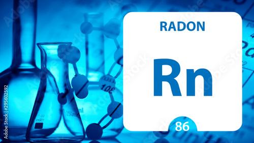 Fényképezés Radon Rn, chemical element sign