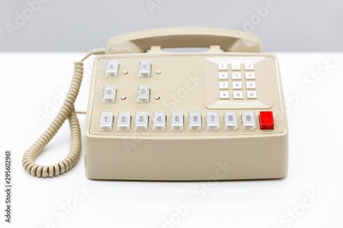 Centralita de teléfono antiguo Canvas Print