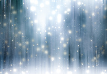 Winter Season Abstract Nature Art Print And Christmas Landscape Holiday Background, Snowy Magical Forest As Luxury Brand Postcard Design Backdrop