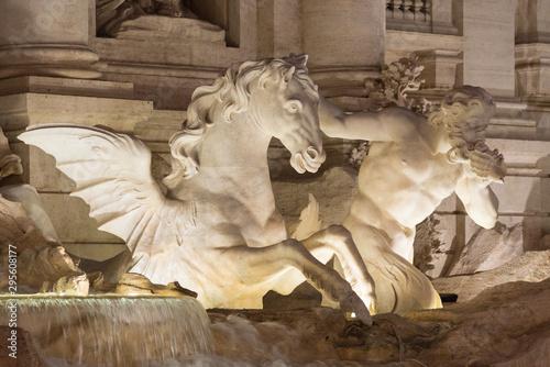 Vászonkép Trevi Brunnen Detail