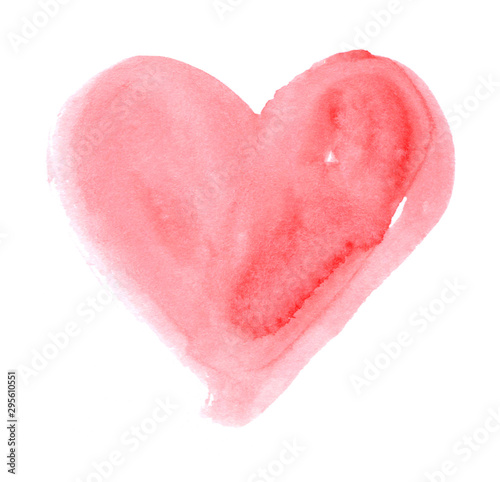 Cuadros en Lienzo Hand-drawn painted cute pink heart, element for design