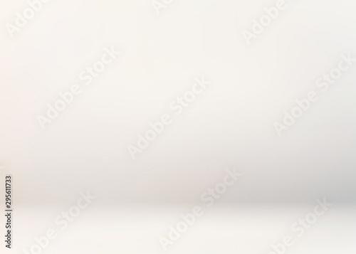 Fototapeta White studio defocused 3d background. Light simple template. Empty smooth wall. Pastel subtle abstract graphic. obraz na płótnie