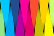 canvas print picture - Colorful abstract background with triangle 3D illustration