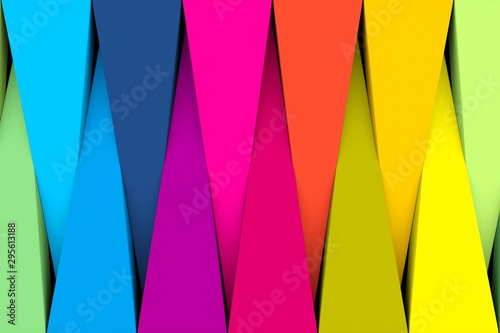 Colorful abstract background with triangle 3D illustration Obraz na płótnie