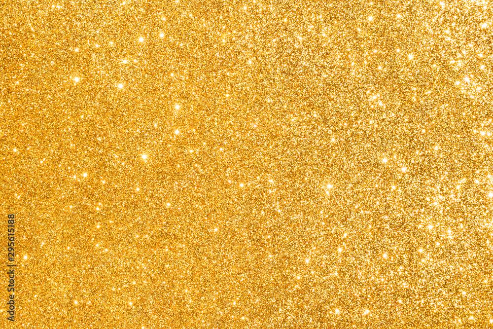 Fototapety, obrazy: golden glitter abstract background