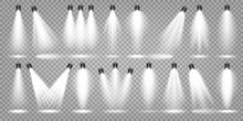 Vector Spotlight Set. Bright L...