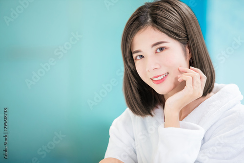 Fotografie, Obraz  Asian girl has health skin