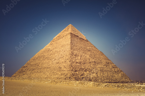 The great Pyramids of Gizeh Egypt shot in the summer of 2019