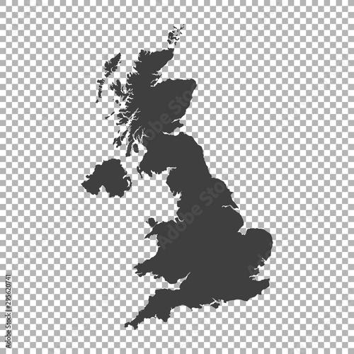 Photo  map of united kingdom