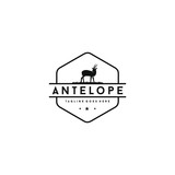 Fototapeta Fototapety na ścianę do pokoju dziecięcego - Antelope logo silhoutte .Antelope logo. Antelope silhouette. Emblem animal logo design.
