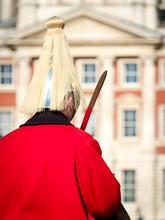 """Nahaufnahme Eines Britischen """"Horseguard"""" Während Einer Wachablösung"""