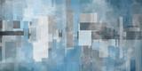 Abstrakcja geometryczna w kolorach niebieskim