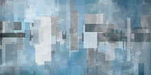 Geometric Abstract In Blue Col...