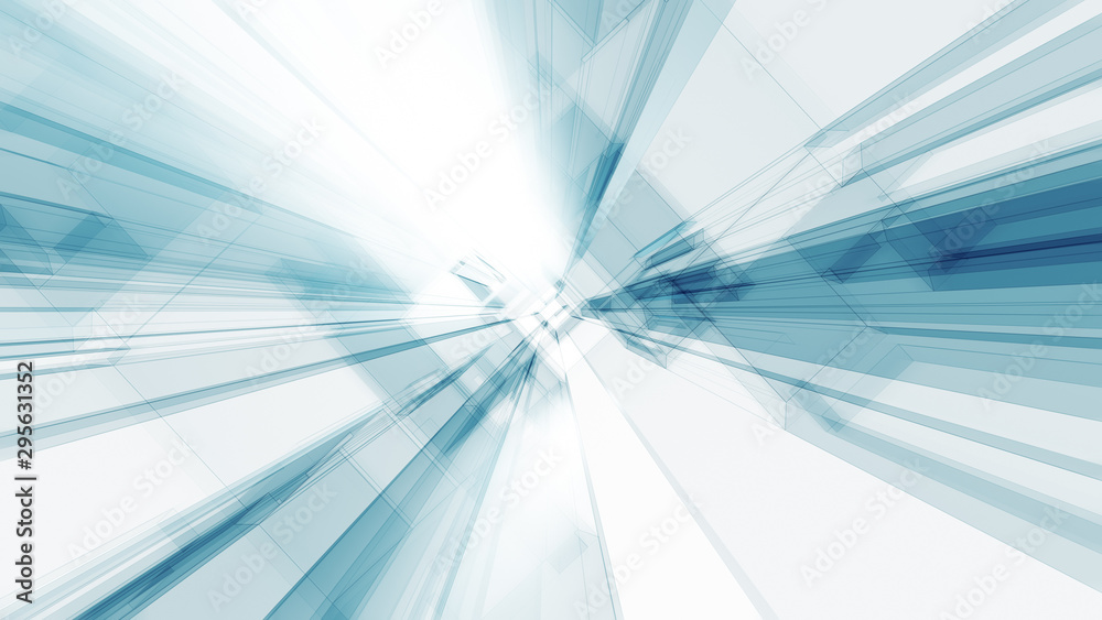Fototapety, obrazy: Blue glow white color transparent glass abstract background